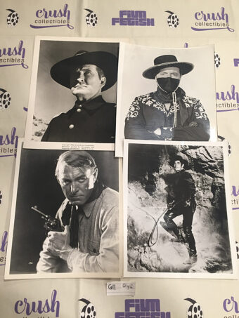 Mixed Set of 4 Original Western and Adventure Movie Press Photo Lobby Cards [G11]