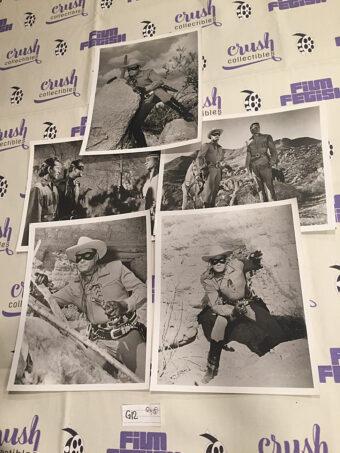 The Lone Ranger Set of 5 Original 8×10 inch Press Photo Lobby Cards [G12]