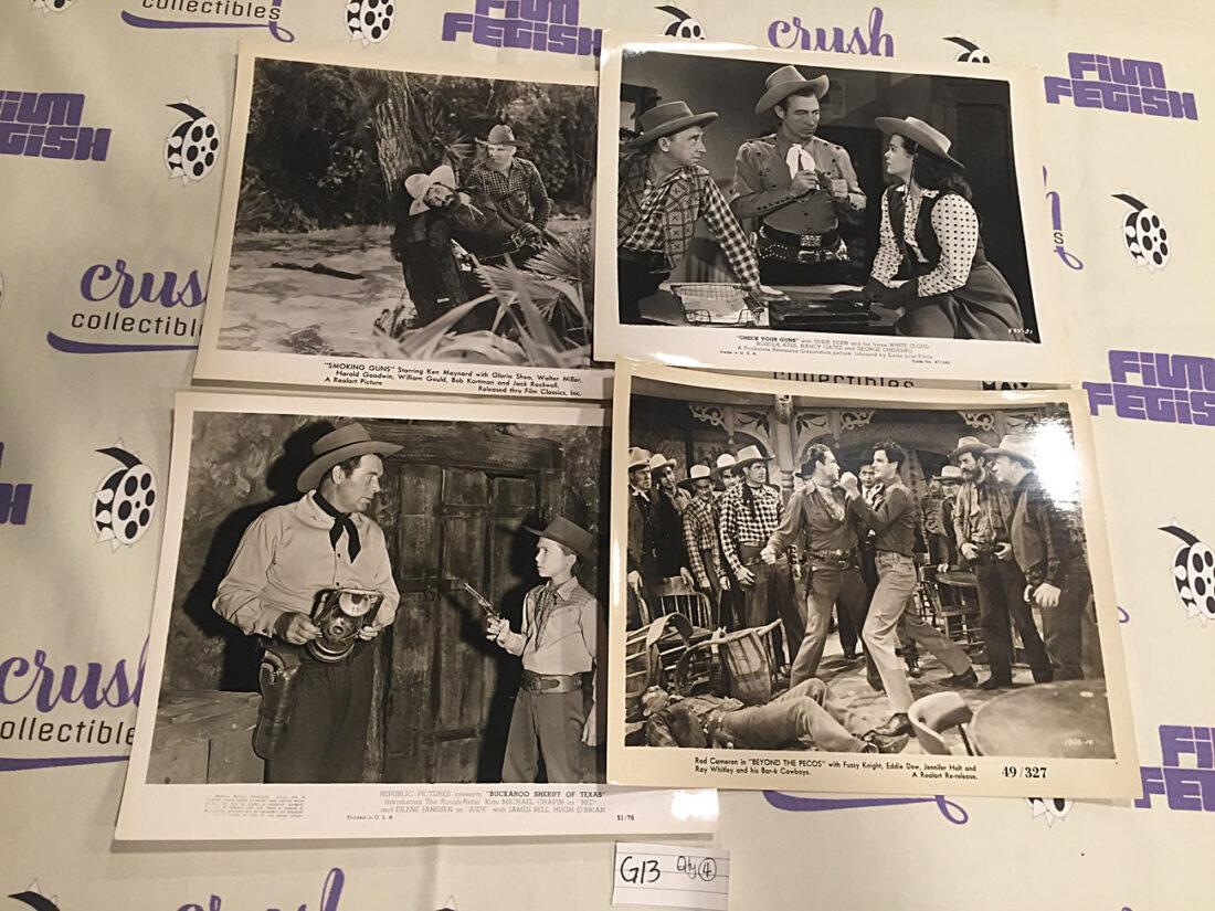 Set of 4 Original 10×8 inch Western Movie Press Photo Lobby Cards [G13]