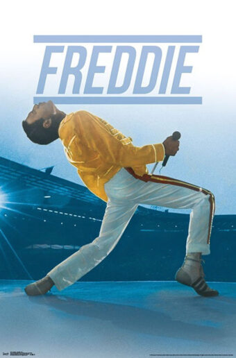 Queen: Freddie Mercury Live at Wembly Stadium London 22 X 35 inch Music Concert Poster