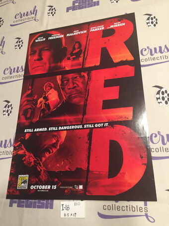 RED Original 11×17 inch Promotional Movie Poster Comic-Con Exclusive [I18]