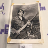 Actor Rick Jason in Combat 5×7 inch AUTOGRAPHED Publicity Press Photo [F62]