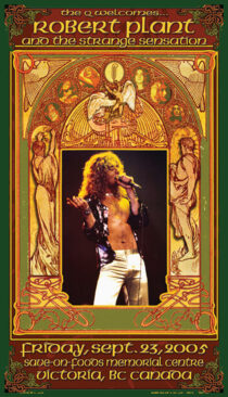 Robert Plant and the Strange Sensation at Victoria BC, Canada (September 23, 2005) 13×23 inch Music Concert Poster