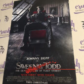 Sweeney Todd: The Demon Barber of Fleet Street 13×20 inch Original Promotional Movie Poster, Johnny Depp Seated [I59]