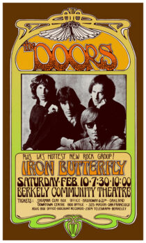 The Doors at Berkeley Community Theater (February 10, 1968) 16×23 inch Music Concert Poster