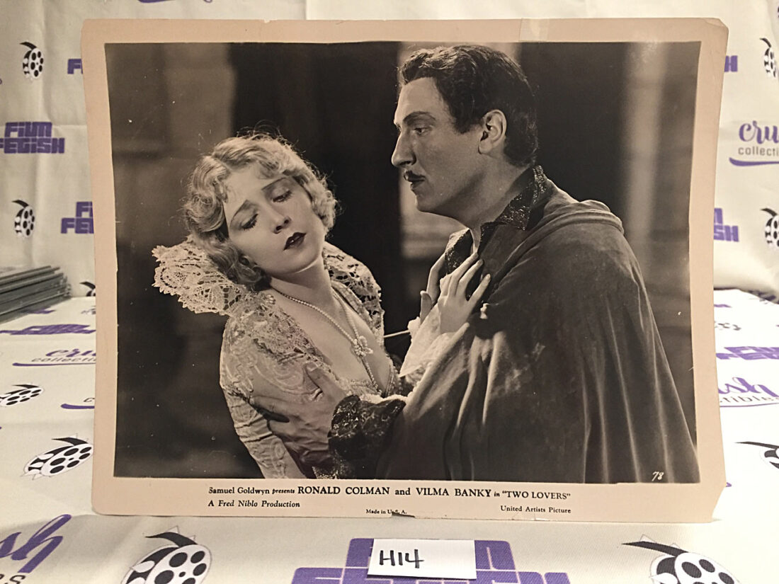 Ronald Colman, Vilma Banky in Two Lovers Original 10×8 inch Publicity Press Photo [H14]