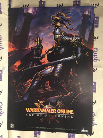 Warhammer Online: Age of Reckoning Original 19×28 inch Double-Sided Game Poster