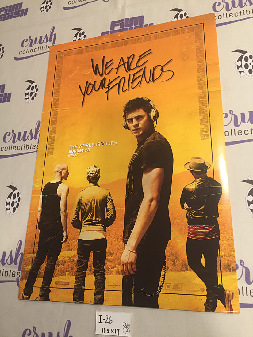 We Are Your Friends Original 11×17 inch Promotional Movie Poster [I26]