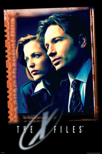 The X-Files Agents Dana Scully and Fox Mulder 24×36 inch TV Series Poster
