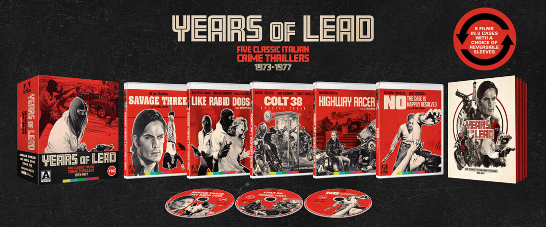 Years Of Lead: Five Classic Italian Crime Thrillers 1973-1977 Limited Edition 3-Disc Deluxe Box Set