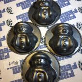 Set of 4 Snowman Cooking Baking Molds Metal [609]