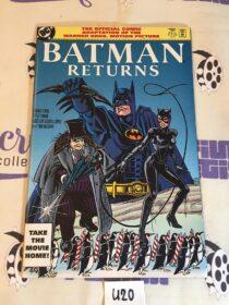 Batman Returns Official DC Comic Book Adaptation of the Warner Bros Movie (1992) 1st Printing