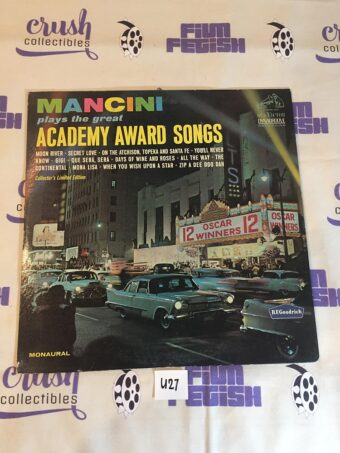 Henry Mancini Plays the Great Academy Award Songs (1964) Collector's Limited Edition Vinyl [U27]