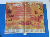 Vin Diesel XXX Movie Original Full Page Newspaper Ad (New York Times August 16, 2002) [A32]