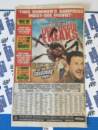 Eight Legged Freaks and Stuart Little 2 Original Full Page Newspaper Ad (New York Times July 19, 2002) [A35]
