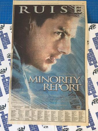Minority Report and Juwanna Mann Original Full Page Newspaper Ad (New York Times June 21, 2002) [A39]