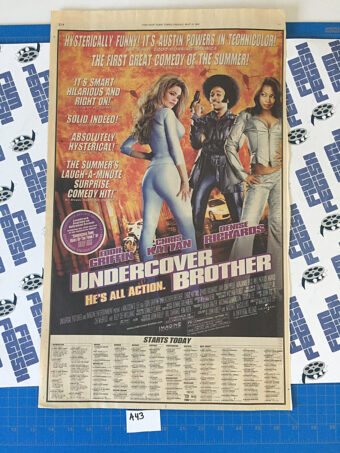 Undercover Brother Original Full Page Newspaper Ad (New York Times May 31, 2002) [A43]