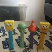 SpongeBob SquarePants Set of 4 Collector PEZ Dispensers, Squidward Q. Tentacles, Patrick Star [PEZ03]
