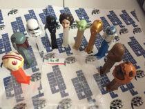 Mixed Lot of 10 Star Wars PEZ Dispensers, Princess Leia Organa, Chewbacca, Darth Vader [PEZ09]