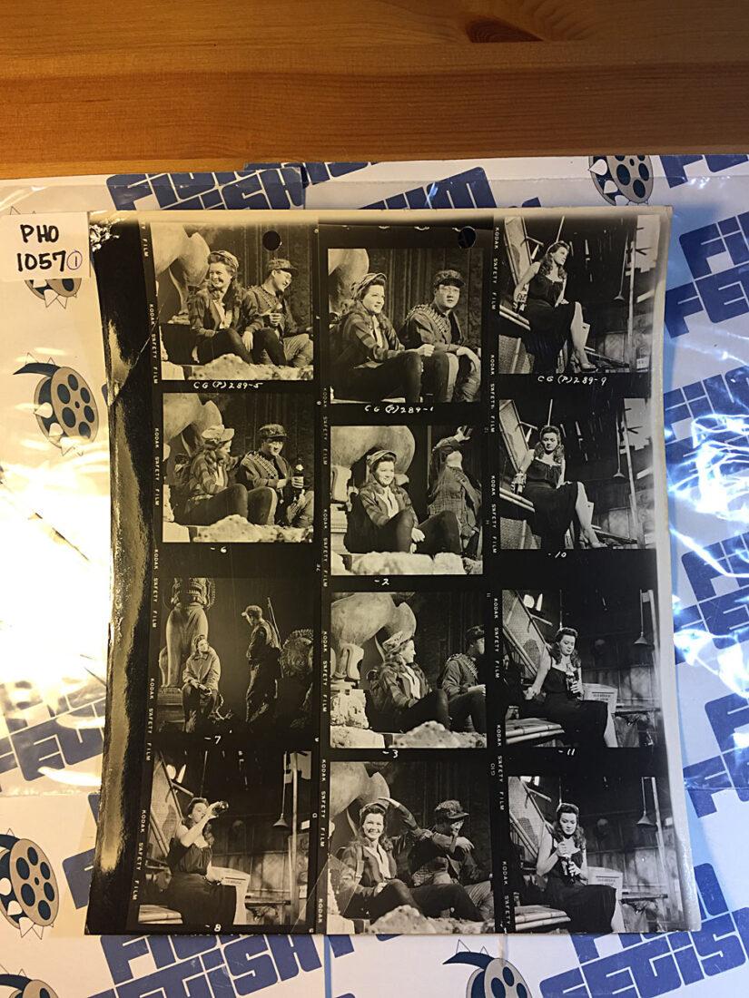 Original Photo Contact Sheet China Gate Movie Set Images [PHO1057]