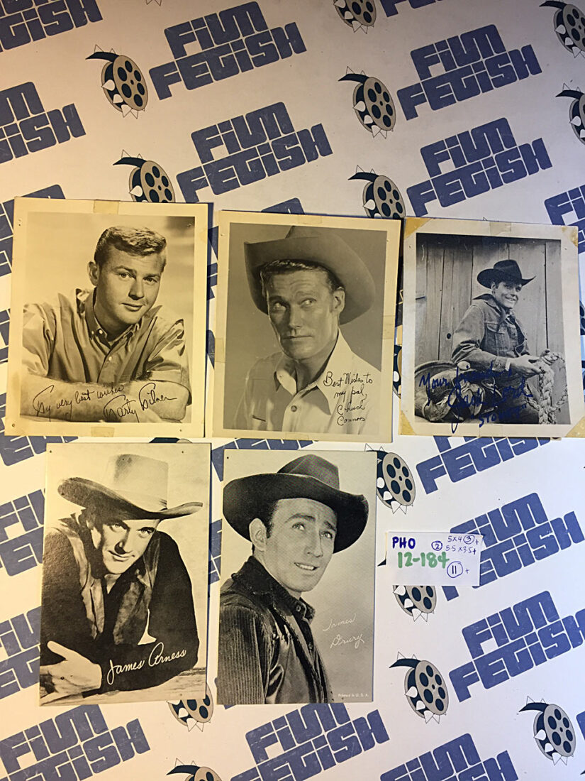 Set of 11 Assorted Rare Original Lobby Cards + 5 SIGNED Publicity Photos from Old Classic Western Movies [PHO12184]