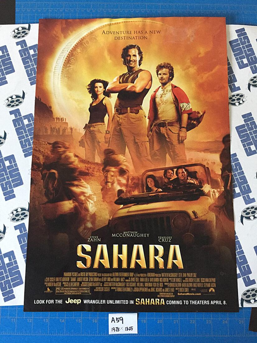 Sahara (2005) Original 13×20 inch Promotional Movie Poster, Matthew McConaughey