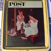 Norman Rockwell The Saturday Evening Post Girl in Mirror Collector's Series Tray/Plate