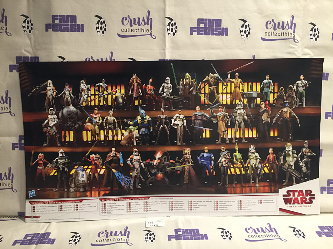 Star Wars: The Clone Wars Hasbro Action Figure 30×16 inch Promotional Poster [J02]
