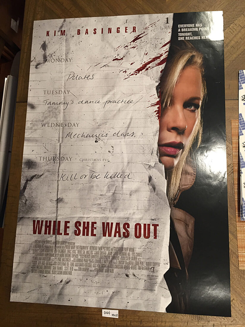 While She Was Out Original 27×39 inch Double-Sided Movie Poster – Kim Basinger [D44]