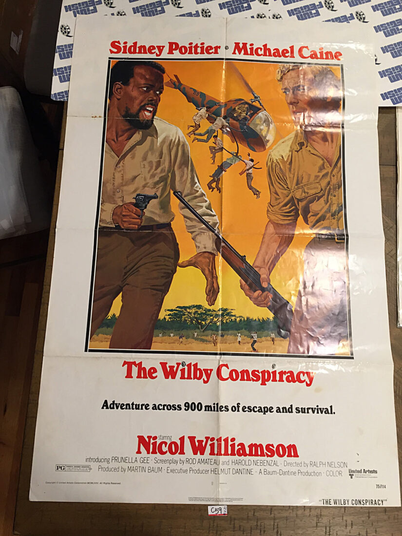 The Wilby Conspiracy Original 27×41 inch Movie Poster – Sidney Poitier, Michael Caine [C59]