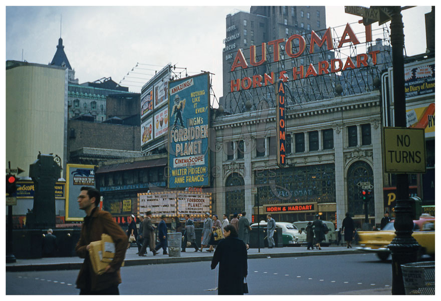 Times Square New York City, Forbidden Planet Playing at Globe Theatre, Horn & Hardart Automat Photo [210523-0001]