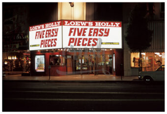 The Loew's Holly Theater Five Easy Pieces Original Release Marquee Photo Print [210523-0004]