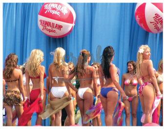 Miss Hawaiian Tropic 2005 Regional Bikini Model Contest Atlantic City, New Jersey Group Backside Photo [210803-0006]