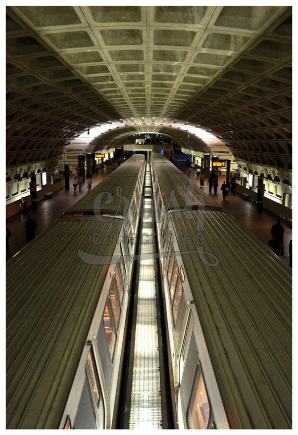 DC Metro Trains Pulling into Station Photo Print [210803-0011]