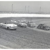 Dirt Track Modified Stock Car Race in 1950's San Francisco Bay Area Photo [210825-1]