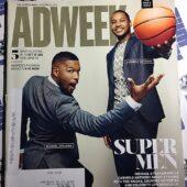 Adweek Magazine (September 8, 2014) Michael Strahan, Carmelo Anthony [9124]