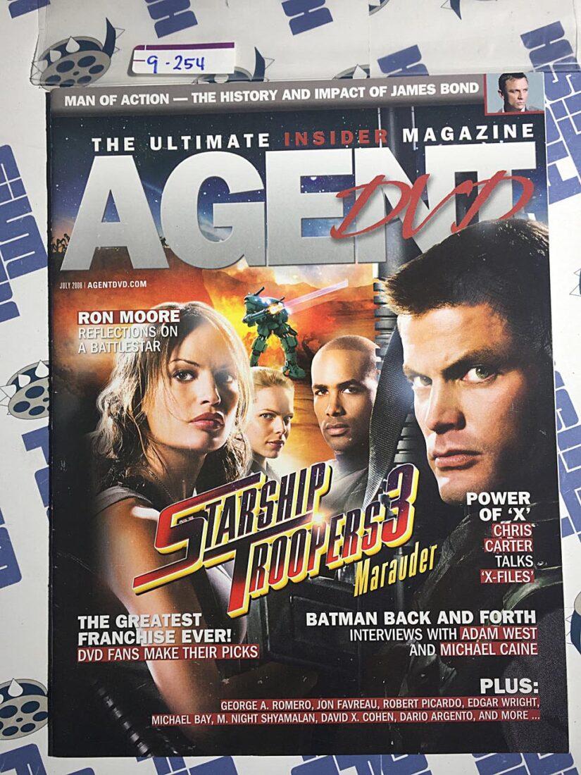 Agent DVD Magazine (July 2008) Starship Troopers 3: Marauder, Batman, The X-Files [9254]