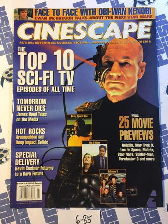 Cinescape Magazine (Jan/Feb 1998) Patrick Stewart, Star Trek: The Next Generation [685]