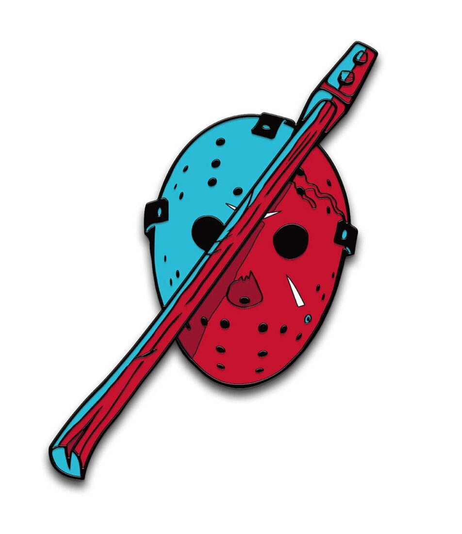 Friday the 13th Part III 3D Enamel Pins Designed by Ghoulish Gary Pullin