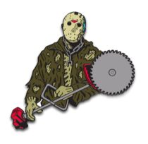 Friday the 13th Part VII: The New Blood Enamel Pins Designed by Ghoulish Gary Pullin Waxwork