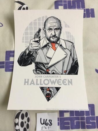Halloween Screen Printed 5×7 inch Limited Edition Dr. Sam Loomis Handbill by Tyler Stout – Grey Matter