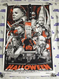 Halloween Screen Printed 24×36 inch Limited Edition Movie Poster by Tyler Stout – Grey Matter