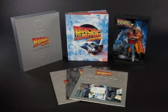 Back to the Future Sculpted Movie Poster + Back to the Future: The Ultimate Visual History Collector's Edition Book