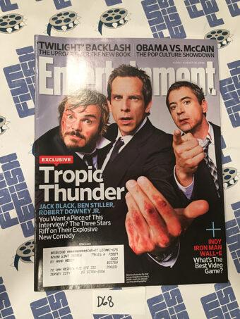 Entertainment Weekly Magazine (Aug 15, 2008) Ben Stiller, Robert Downey Jr. [D68]