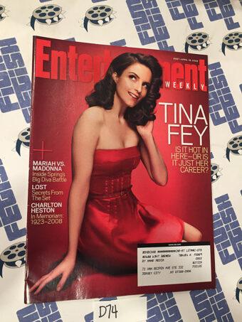 Entertainment Weekly Magazine (Apr 18, 2008) Tina Fey, Charlton Heston [D74]