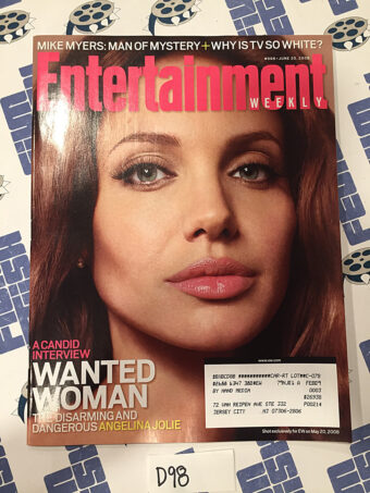 Entertainment Weekly Magazine (June 20, 2008) Angelina Jolie, Mike Myers [D98]