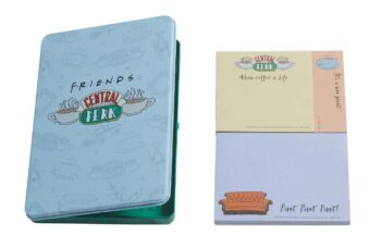 Friends TV Series Central Perk Sticky Note Set with Collectible Metal Tin