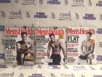 Set of 3 Issues of Men's Health Magazine (Jan/Feb 2000, June 2002, Sept 2002) [L62]