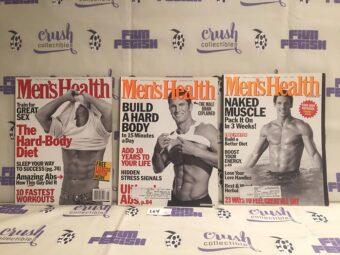 Set of 3 Issues of Men's Health Magazine (Aug 1997, Apr 1999, Nov 1999) [L64]
