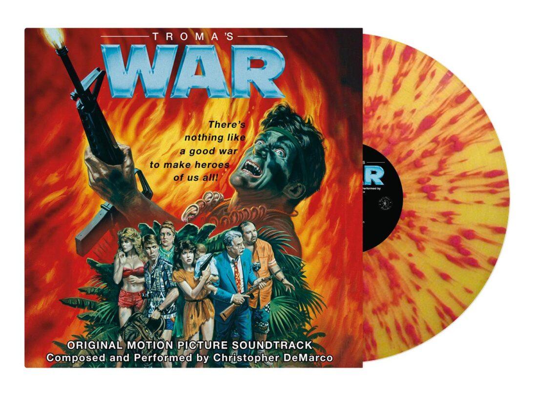Troma's War Original Motion Picture Soundtrack Red/Orange Splatter Vinyl Edition